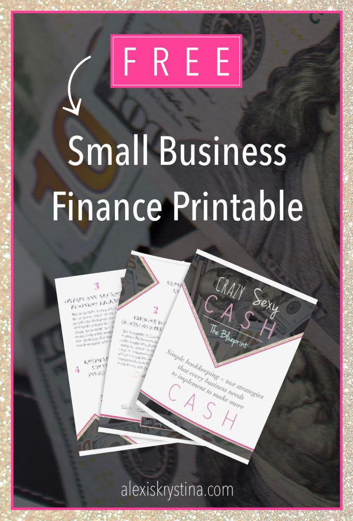 FREE Small Business Finance Printable | Learn what you need to do as a small business owner to get your bookkeeping setup in an easy way. This small business finance printable teaches you exactly how to organize your small business finances and money. #moneytips #smallbusiness #cashflowtips
